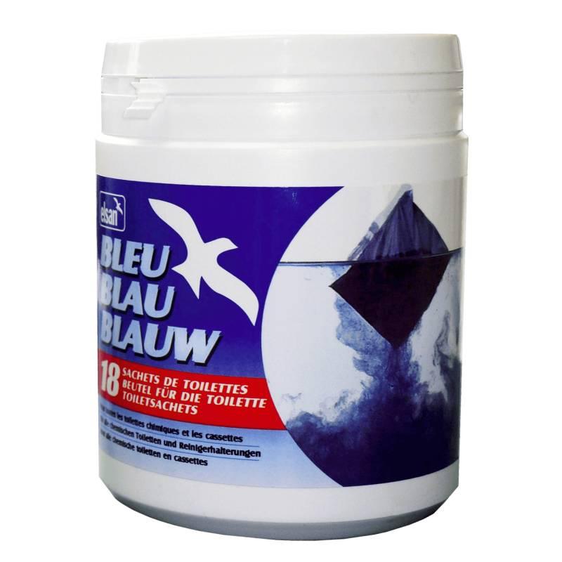 Elsan bleu 18 sachets produit sanitaire pour wc chimiques for Produit pour deboucher les wc