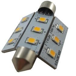 Ampoule LED navette NAV42-9B Blanc Chaud ou Froid 0.5W 150lm