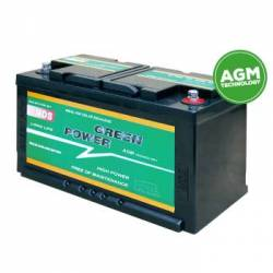 Batterie auxiliaire AGM 12V Green Power NDS C:20
