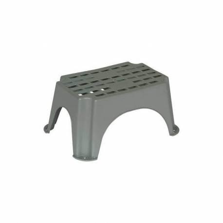Marchepied plastique gris