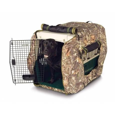 Housse camouflée pour cage à chien