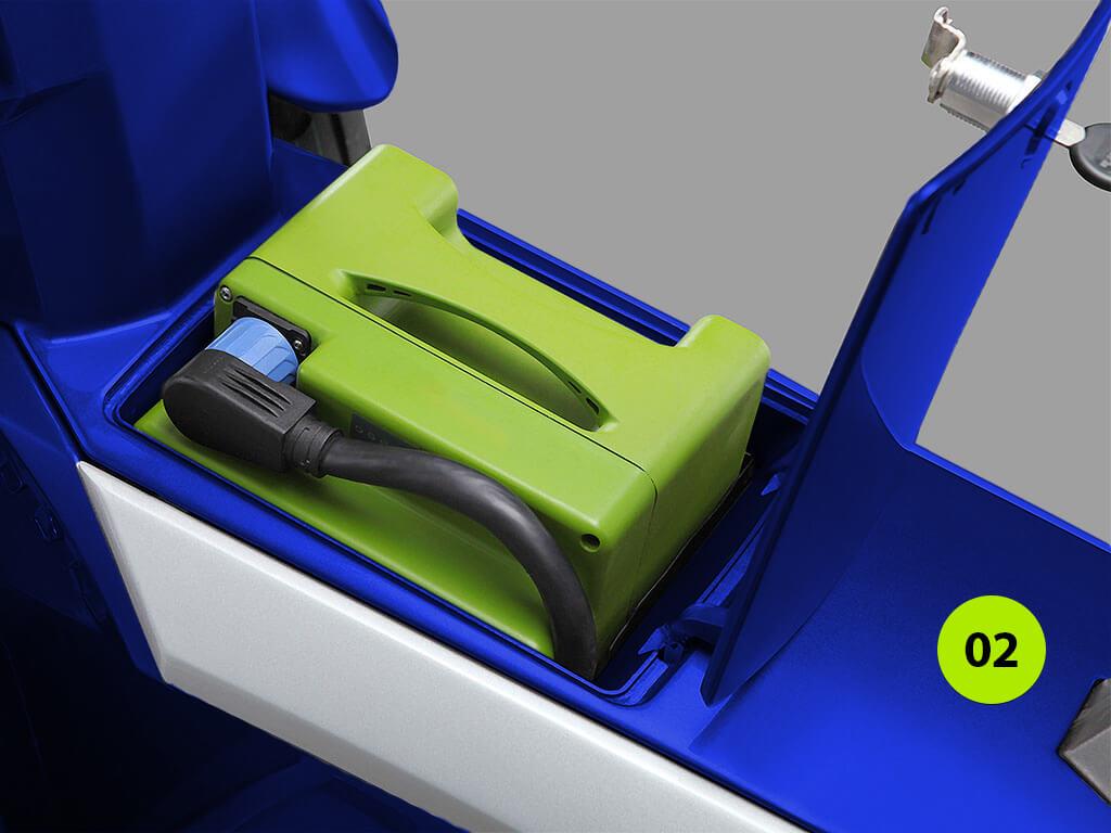batterie lithium du scooter électrique à trois roues goodyear ego2